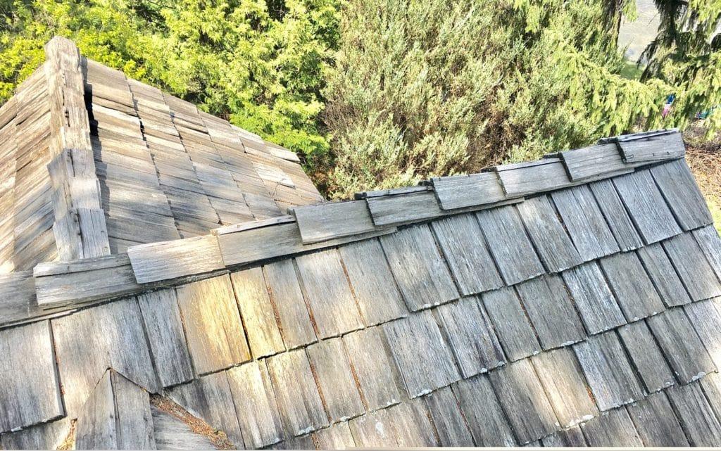 cedar shake before metal roof