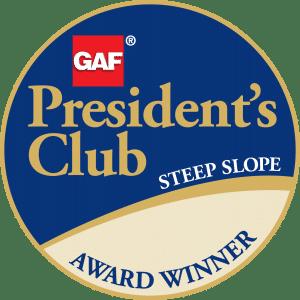 GAF Steep Slope President's Club Award