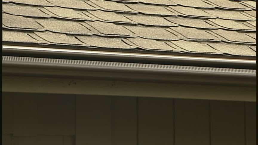 Leafguard on roof