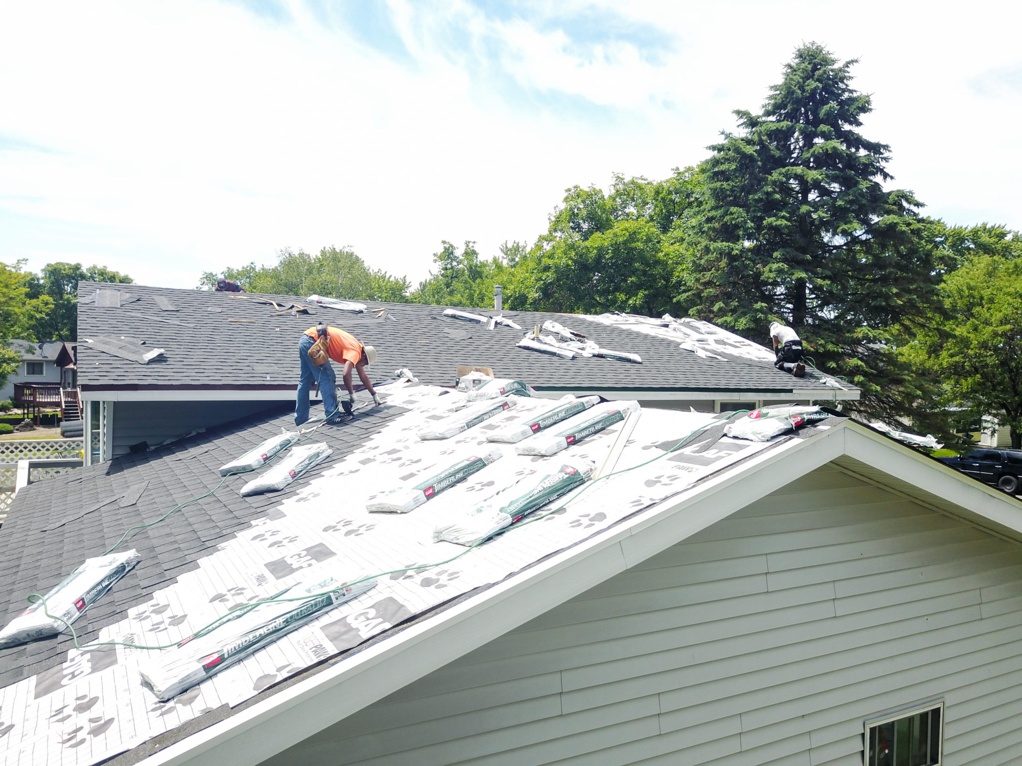installing a roof