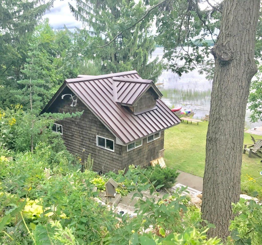 metal roof on white bear lake, mn cabin