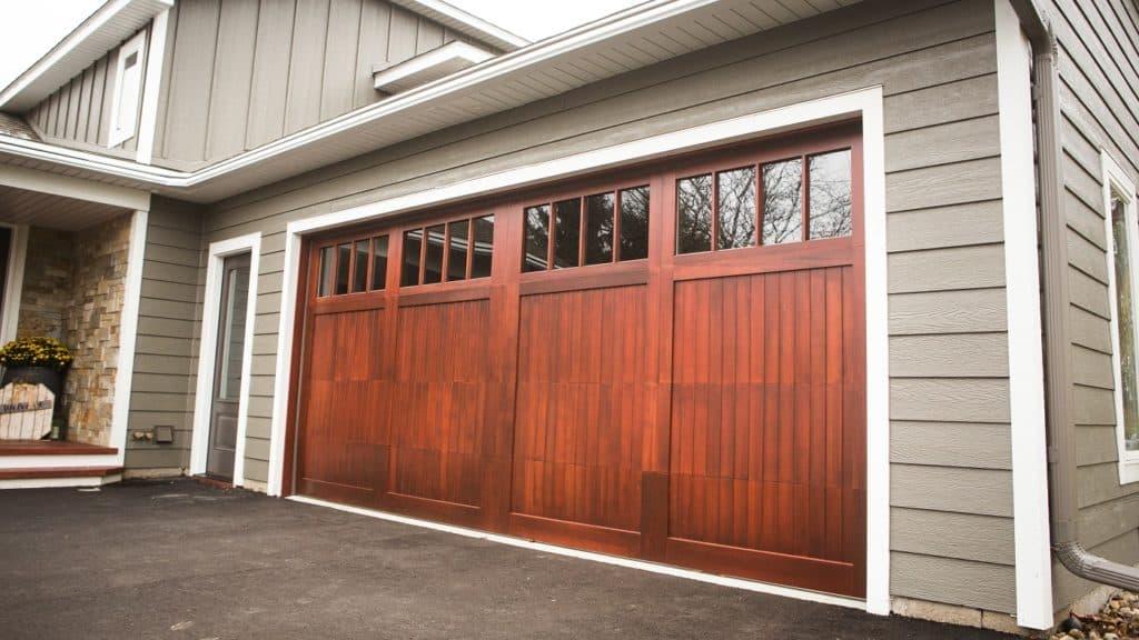 wooden garage door